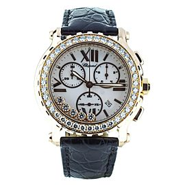 Chopard 18K Rose Happy sport chrono 42mm complete ref: 283583