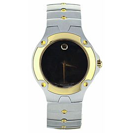 Movado S.E. Sports Edition Black dial Two Tone quartz 37mm ref: 81 G1 1892
