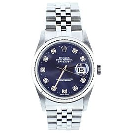 Rolex Datejust 36mm ref:16234 blue diamond dial