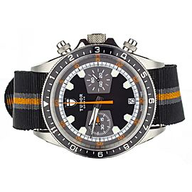Tudor Heritage Chronograph Black/ Orange on Nato m70330n-0004