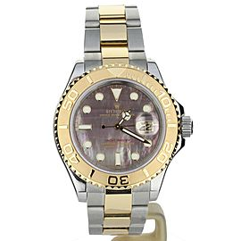 Rolex Yachtmaster Two Tone Yellow Gold Mother of Pearl Dial 16623
