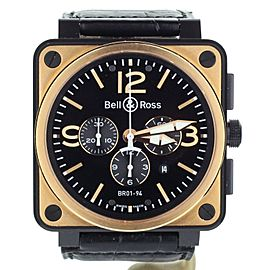 BELL & ROSS BR 01-94 ROSE GOLD & CARBON OFFICER