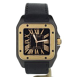 Cartier Santos 100 Black PVD Rose Gold ref: W2020009