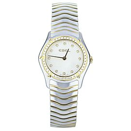 Ebel Wave SS/YG Diamond Bezel Mop Diamond Dial Full Link Cimplete Set.