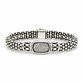 Lagos Caviar Diamond Bracelet in Silver and Gold