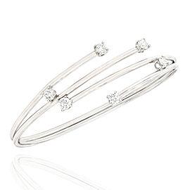 Diamond Bypass Spring Bracelet in Gold