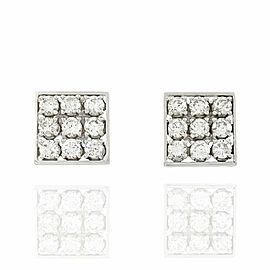 Diamond Square Earrings in Gold