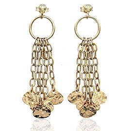 5 Strand Dangle Earrings in Gold