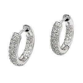 Diamond Hoop Earrings in Gold