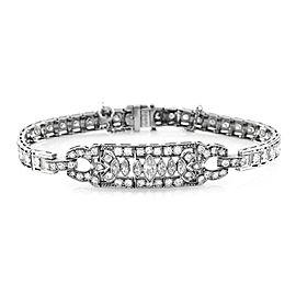 Vintage 3.51ctw Diamond Bracelet with Milgrain Details in Platinum
