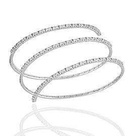 Spring Coil Diamond Bracelet in Gold
