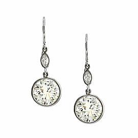 Diamond Drop Earrings in Gold