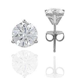 2.04ctw Round Brilliant Diamond Stud Earrings in 18kw