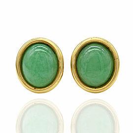 Jade Earrings in Gold