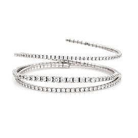 Diamond Spring Coil Bracelet in Gold