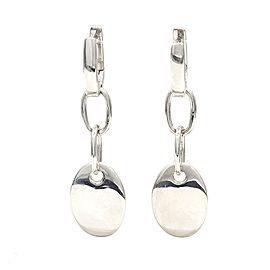 Tiffany Oval Tag Drop Earrings in Silver