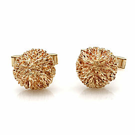 Ruser Round Dome Cufflinks in Gold