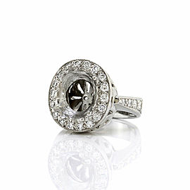 Diamond Halo Ring Mounting in Platinum