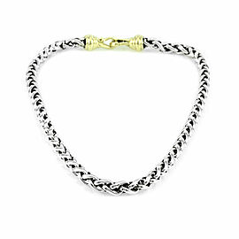 David Yurman Wheat Chain Necklace in Silver Gold