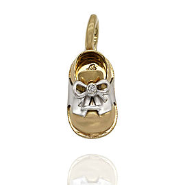Aaron Basha Baby Shoe Pendant in Gold