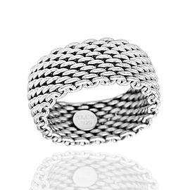 Tiffany Mesh Ring in Silver