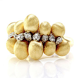 Nanis Transformista Pave Diamond Puffed Gold Ring in 18K Yellow Gold