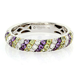Hidalgo Diamond, Peridot and Amethyst Band in Gold