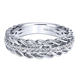 Gabriel & Co. Micro-Pave Diamond and Gold Anniversary Band