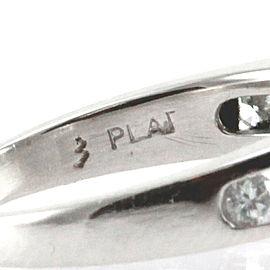 Platinum and Diamond Engagement Ring w/ Marquise and Round Diamonds