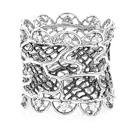 Barry Kronen Nouveau Lace Pave Diamond Band in 18K White Gold