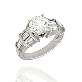 2.00ct SI1, I GIA Certified Round Brilliant Cut Diamond Engagement Ring Platinum