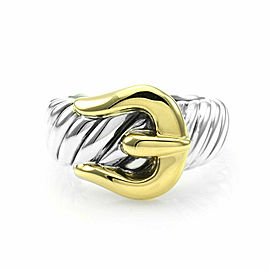 David Yurman Buckle Ring in Sterling and Gold