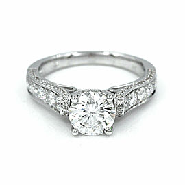 1.36ct GIA Certified Diamond Engagement Ring in 18K White Gold