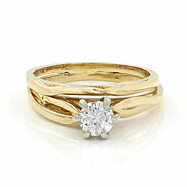 0.38ct Diamond Solitaire Diamond Ring in 14K Yellow Gold