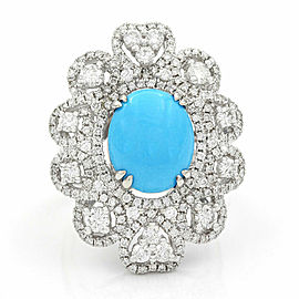 Turquoise and Diamond Ring in Gold