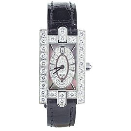 Harry Winston Avenue Ladies White Gold Diamond Case Quartz
