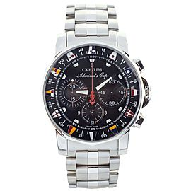 Corum Admirals Cup Chronograph Full Set with extra rubber and steel bracelet
