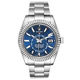 Rolex Sky-Dweller Blue Dial Steel White Gold Mens Watch 326934