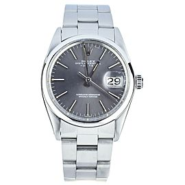 Rolex Oyster Perpetual Date Vintage Gray dial 36mm Bracelet ref:1500