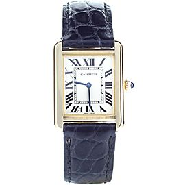 Cartier Tank Solo Small W5200002 Quartz Yellow Gold 31x24.4mm Full Set