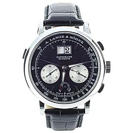 A Lange and Sohne Datograph up down Platinum 41mm Ref: 405.035 Complete set
