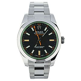 Rolex Milgauss Green Black Dial 40mm Ref: 116400GV