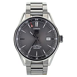 Tag Heuer Carrera Calibre 7 Twin-Time 41mm. Ref: WAR2012