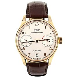 IWC Portugieser 7 Day 18k Rose 42.3mm Ref: IW500701