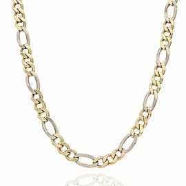 Figaro Chain Necklace in Gold