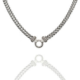 David Yurman Diamond Necklace in Silver
