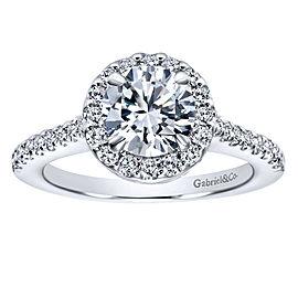 Gabriel & Co. Diamond Halo Ring Mounting in 14K White Gold