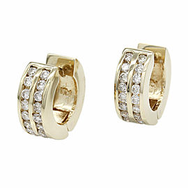 Diamond Huggie Earrings in Gold
