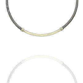 David Yurman Metro Necklace in Silver and Gold