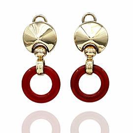 Carnelian Earrings in Gold